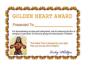 Golden Heart Certificate