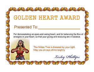 Golden Heart Certificate